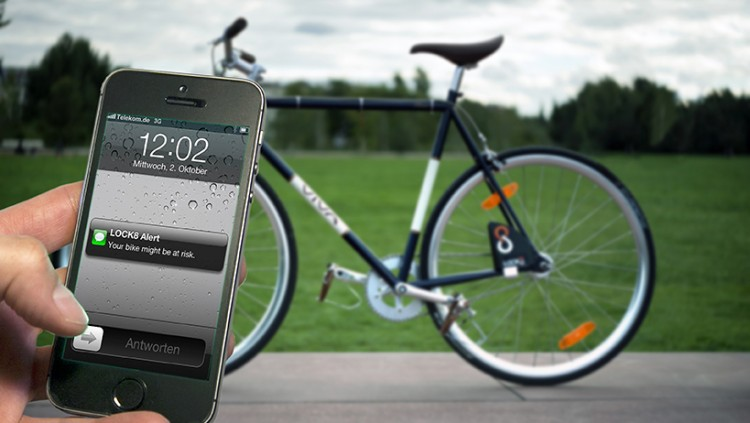 App screenshot Alert foreground with bike bg net