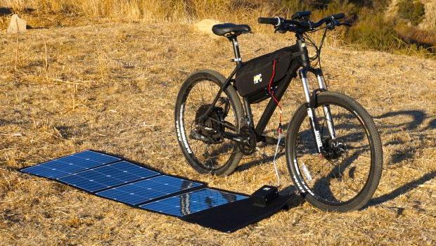 Pannello Solare Per Ebike : Hpc suncaptured pannello solare che ricarica l ebike
