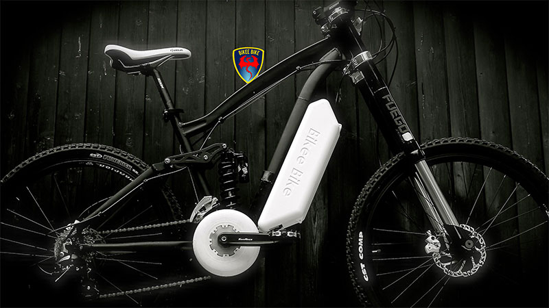 Una bicicletta elettrica Bikeebike
