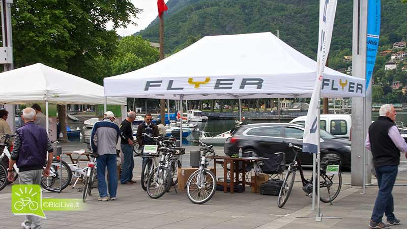 Biciclette elettriche Flyer in mostra allo stand
