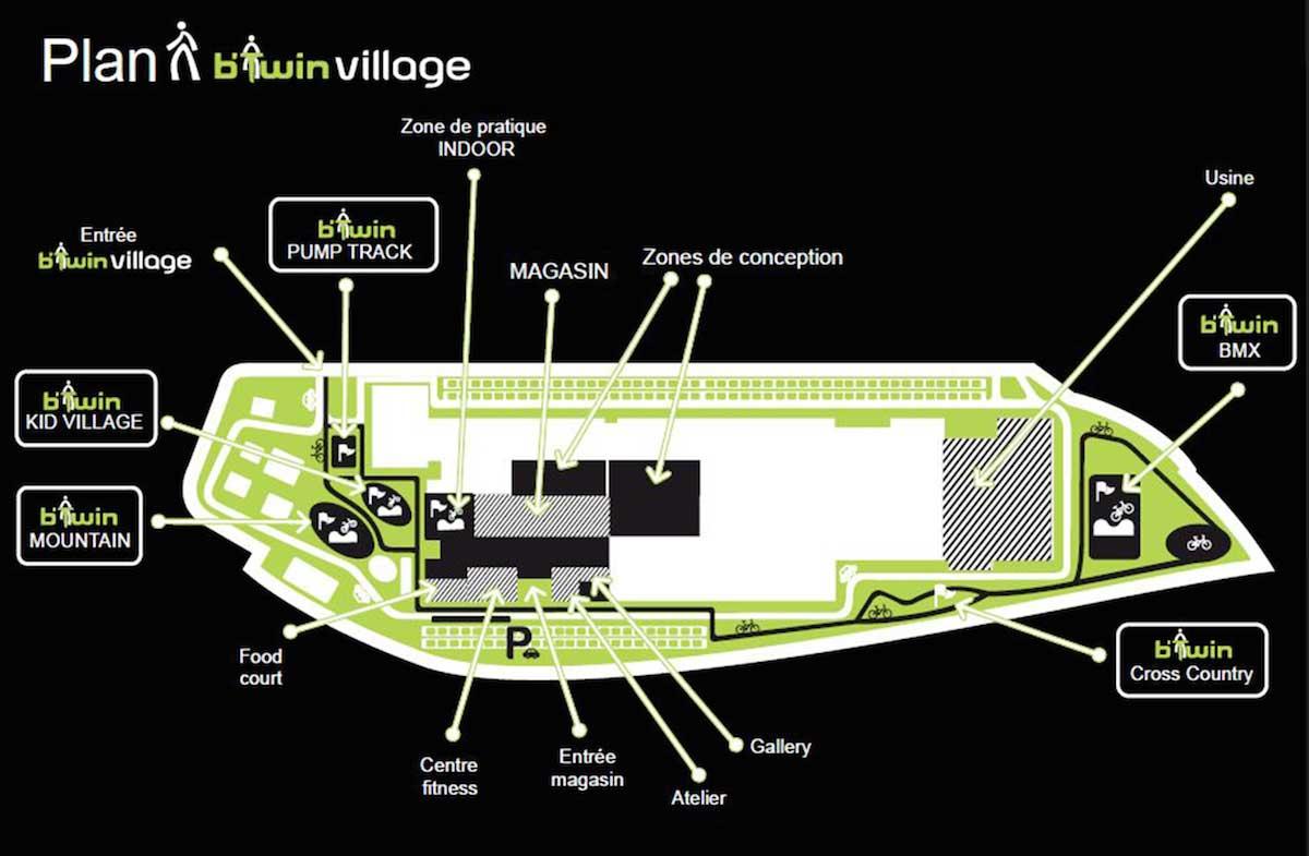 La planimetria del B'Twin Village