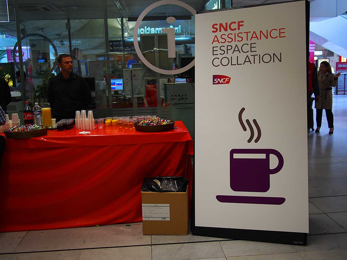 La colazione della SNCF