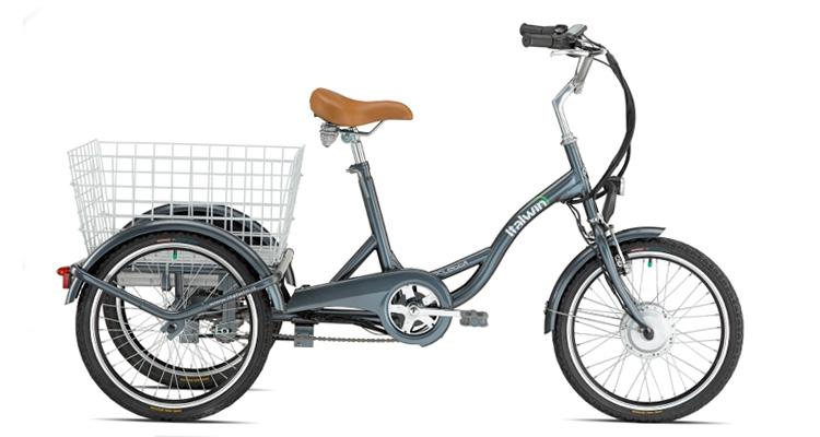Tricicletta La Bici Cargo Elettrica A Tre Ruote Di Italwin