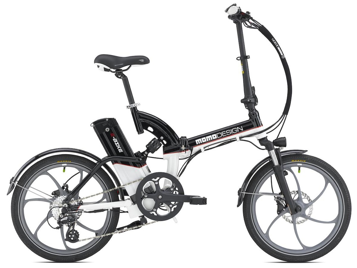 La bici elettrica biammortizzata e pieghevole di Italwin e Momo Design