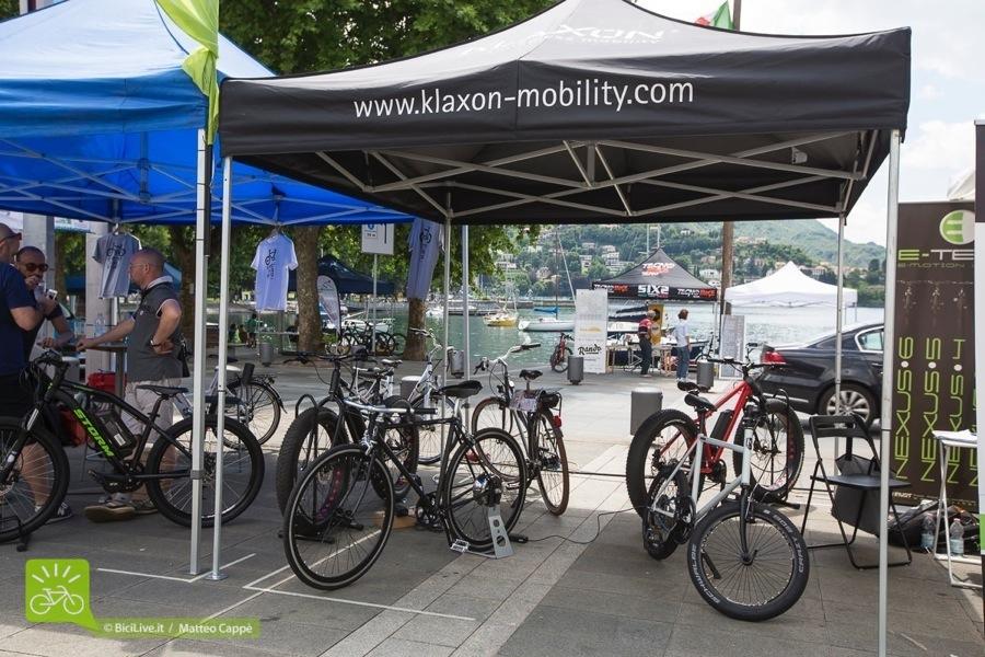 Una bicicletta elettrica Klaxon