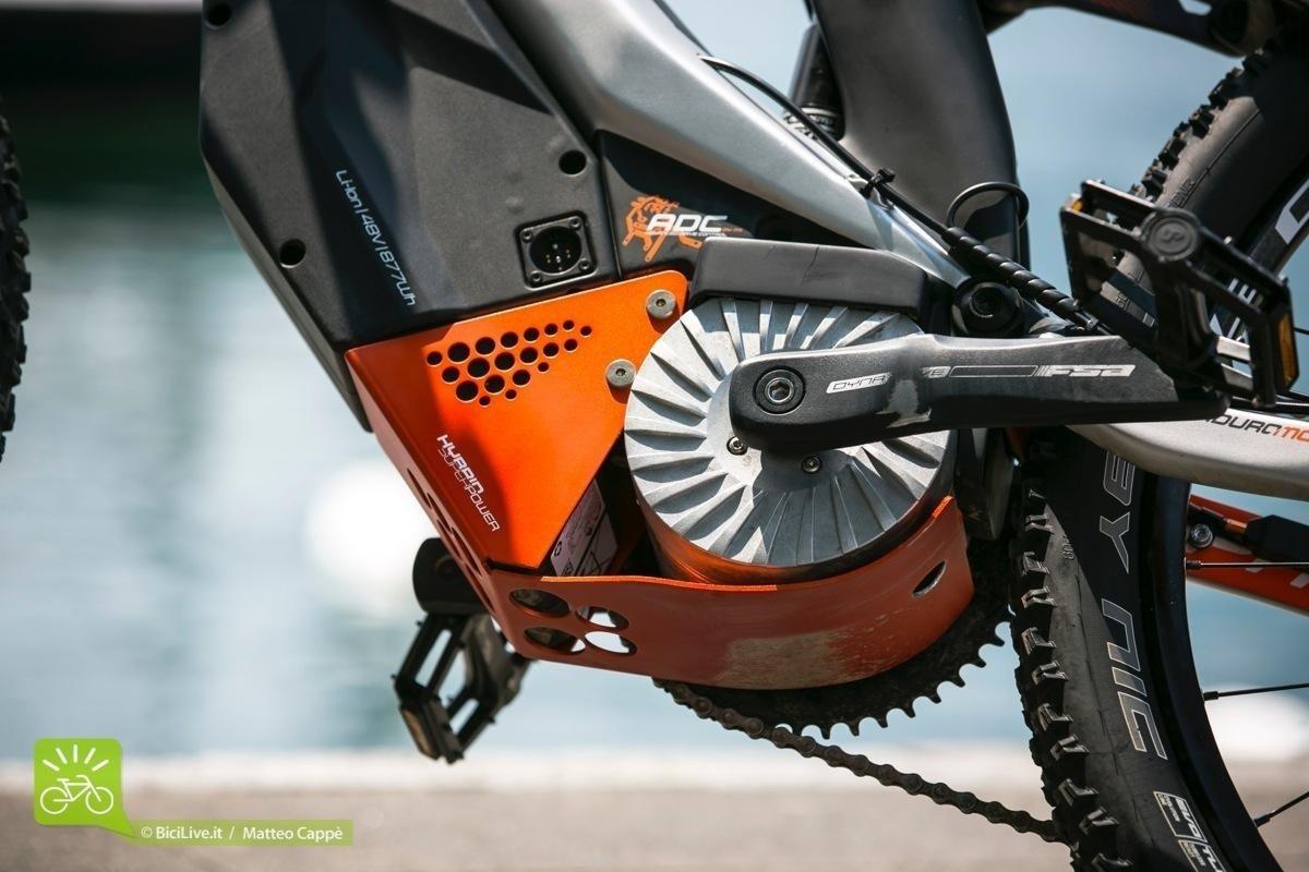 Il motore della mountain bike elettrica M1 Sport