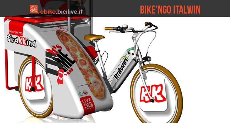 Una foto della cargo ebike Biken'go della Italwin