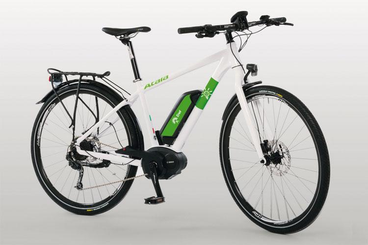 Una foto della bicicletta elettrica B-Ride S di Atala marchiata Enel Enerigia