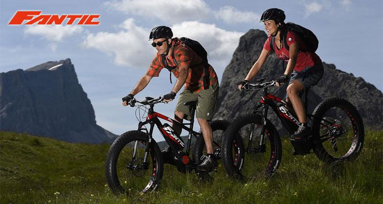 Una foto della Fantic Fat Sport ebike in montagna