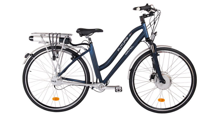 Una foto di una bici elettrica a pedalata assistita Wayel della serie Futura