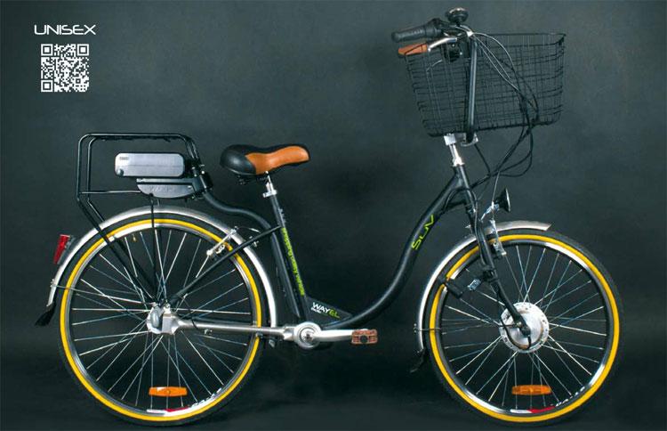 Una foto di una bici elettrica Wayel della serie SUV (Shopping Utility Vehicle)