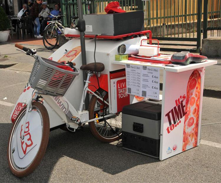 Una foto della Biken'go di Italwin, un negozio ambulante