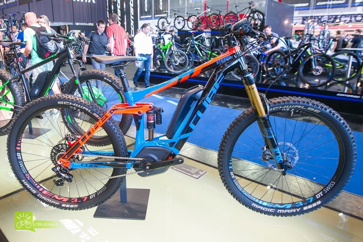 Eurobike cube mountainbike elettrica stereo hybrid 160 hpa action team 2016