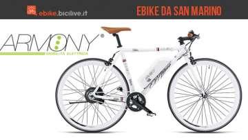 Un'immagine dedicata alle e-bike Armony, un produttore di bici elettriche di San Marino