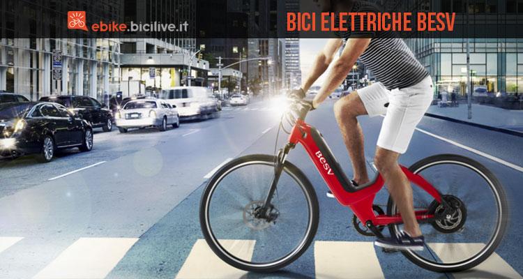 Una immagine promozionale per le bici elettriche BESV