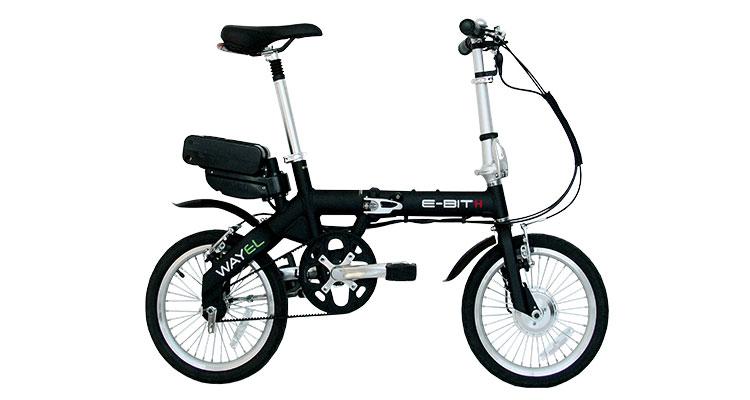 Una foto di una bici elettrica pieghevole Wayel della serie E-Bit H