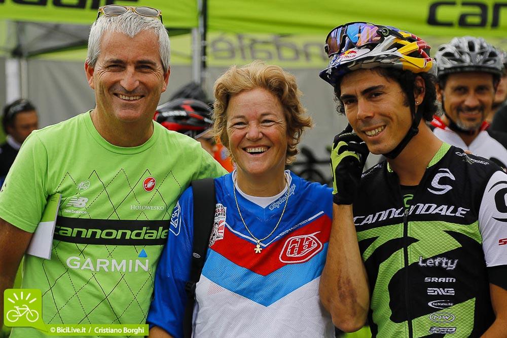 Anche Giovanna Bonazzi, ex campionessa mondiale di downhill, era al Demo Day