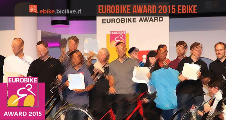 Una foto per gli Eurobike Award 2015 dedicati alle ebike