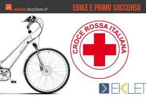 Una immagine per le bici elettriche ekletta e la croce rossa italiana
