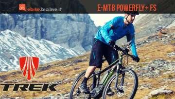 Una foto promozionale per le mtb elettriche Trek Powerfly+ FS