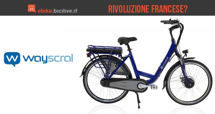 Una foto promozionale per le biciclette elettriche francesi Wayscral