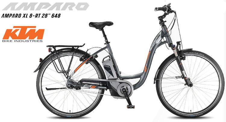 """Una foto della bici elettrica da città KTM Amparo XL 8-RT 28"""" 648"""