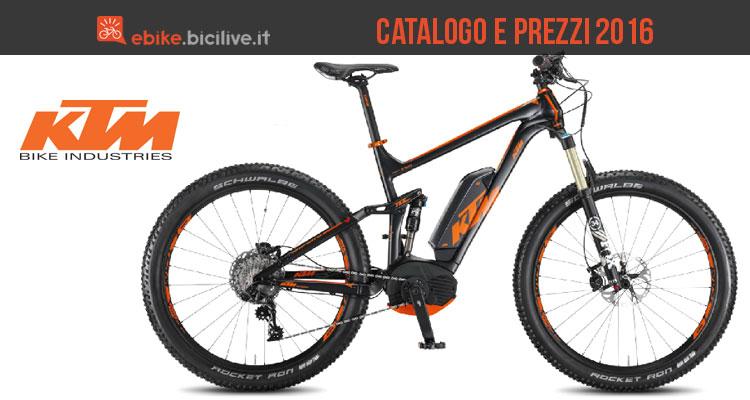 Foto di presentazione del catalogo e listino prezzi 2016 KTM per le bici elettriche