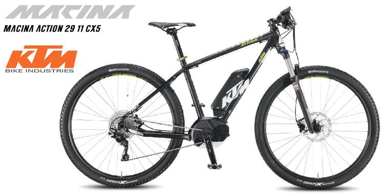 Una foto della bicicletta elettrica KTM Macina Action 29 11 CX5