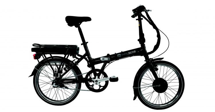 Una foto della bici elettrica pieghevole Flexy 215 della Wayscral