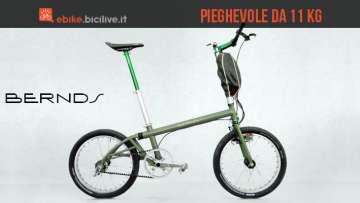 Una foto per la Tune-E-Bike, la bici elettrica pieghevole di Bernds