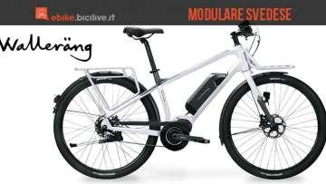 La bici elettrica svedese Walerang M01 con portapacchi