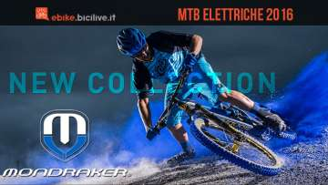 Una foto promozionale per le nuove mtb elettriche Mondraker 2016
