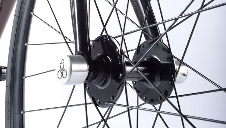 Il mozzo anteriore della bici elettrica Mopbike