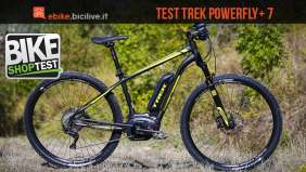 foto della bici elettrica trek powerfly+ 7 vista di profilo