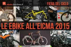 foto di diverse ebike all'eicma 2015