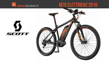 Mountain bike elettriche Scott 2016