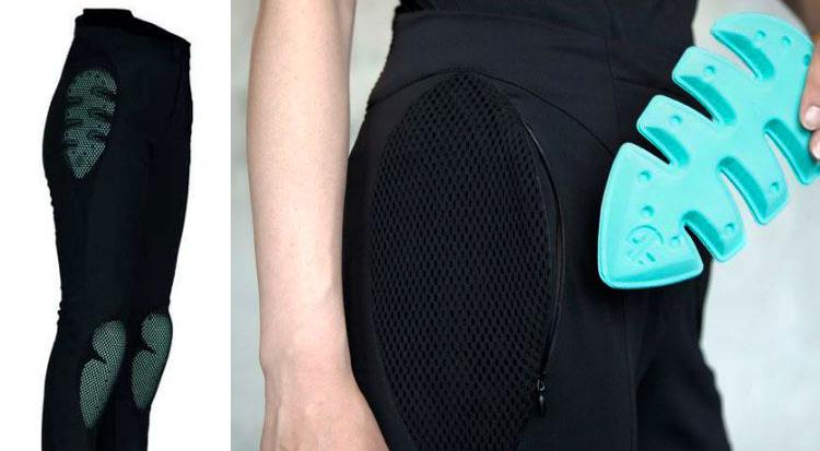 La protezione estraibile dei pantaloni Pure Electric