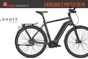 Il catalogo e il listino prezzi 2016 delle bici elettriche Kalkhoff