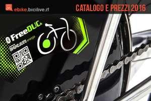 Bici elettriche Ducati Free DUCk: catalogo e listino prezzi 2016