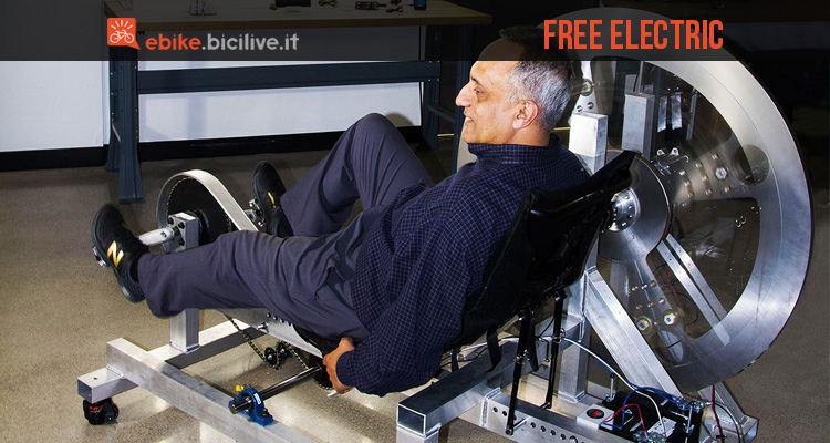 foto della cyclette free electric