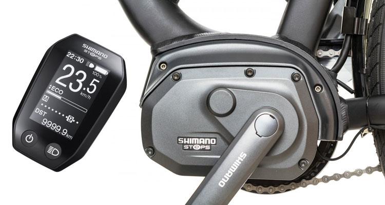 Motore e computer di bordo firmati Shimano Steps