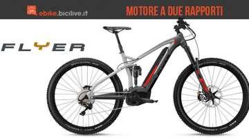 La mountain bike elettrica Flyer Uproc7