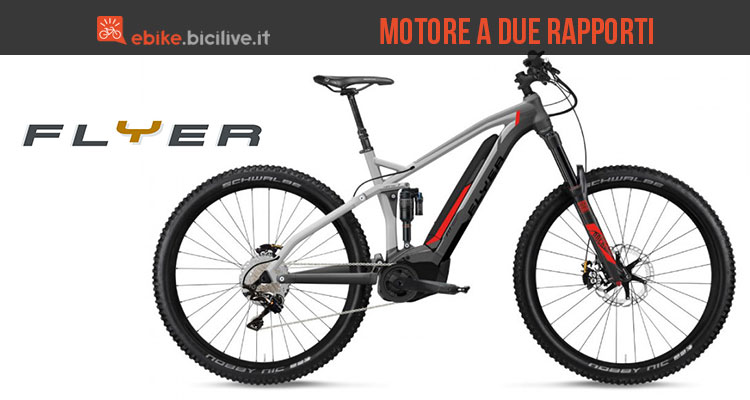 La mountain bike elettrica Flyer Uproc7