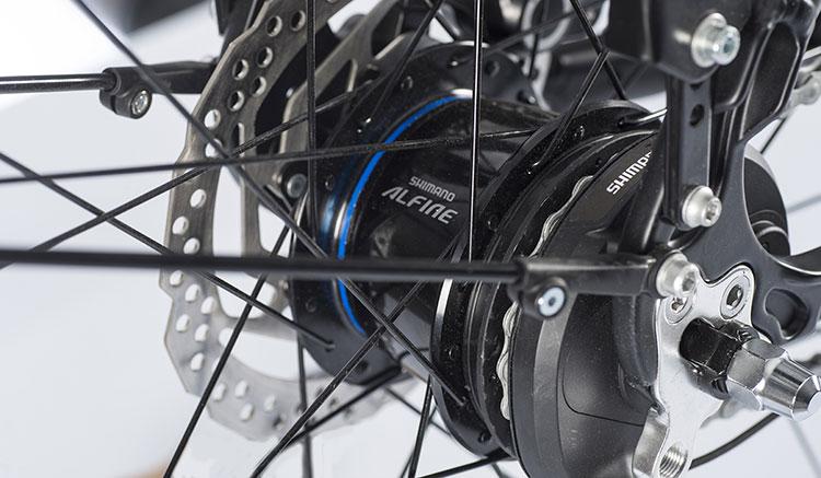 Il cambio automatico Shimano Alfine montato su una ebike Brinke Rushmore '16