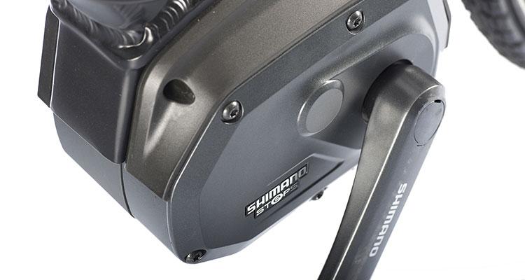 Il motore Shimano Steps montato sulla Brinke Rushmore '16