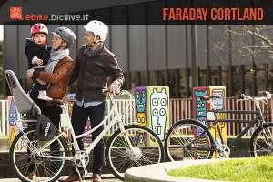L'ebike Faraday Cortland dallo stile inimitabile e rivolta al pubblico femminile