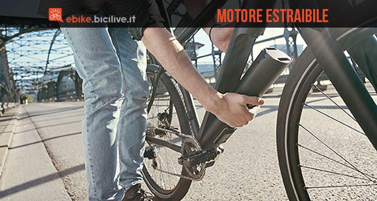 La bicicletta elettrica Fazua Evation con motore e batterie estraibili