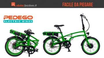 Una bicicletta elettrica pieghevole Pedego Latch