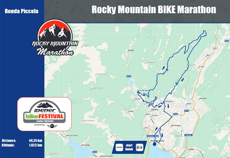 La mappa della Ronda Piccola all'eMTB Marathon ePowered by Bosch