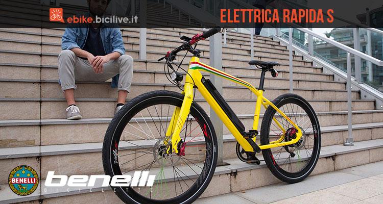 La bicicletta elettrica a pedalata assistita Benelli Rapida S